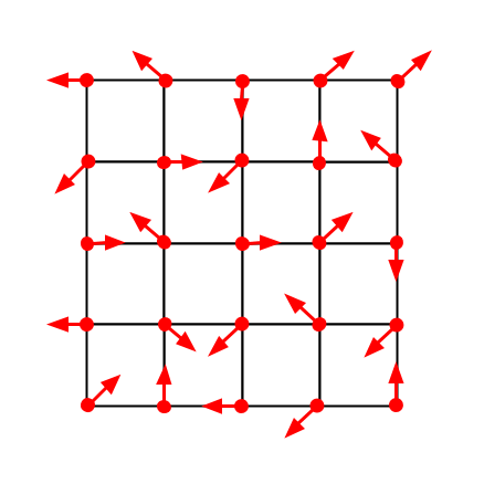 A picture of a grid of vectors